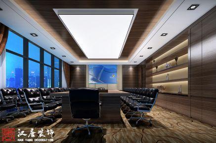 投资公司办公室装修设计  中式风格办公室装修效果图
