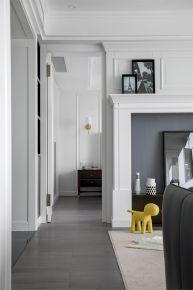 143平米现代冷色系三居室装修设计