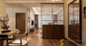 西安山水香堤中式风格家庭装修效果图