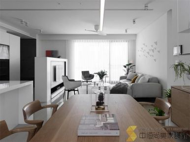 西安曲江国风世家现代风两居装修效果图
