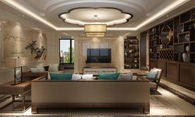 福州傲江景城 中式风格四居室装修效果图欣赏