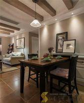 西安香缤国际城美式风格两房装修效果图