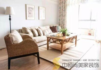 西安中铁缤纷新城美式三居装修实景图