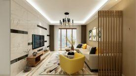 海口罗曼蒂克 现代风格两房装修效果图欣赏