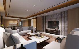 西安新中式风格四居装修效果图