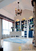 西安隆源国际城复式地中海风格装修效果图