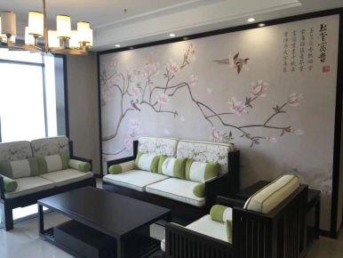 瑞景国际样板房装修设计 中式风格三房装修效果图欣赏
