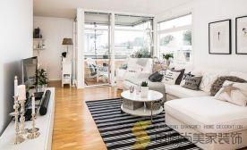 西安两居室清新装修效果图 日式风格两房装修设计