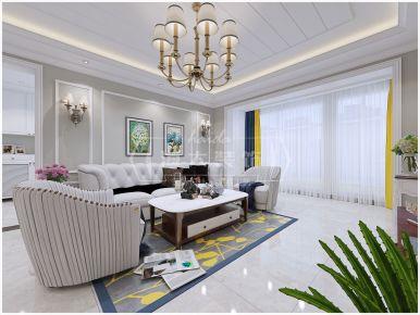 海大装饰-大上海-128平米创意混搭风格三房装修