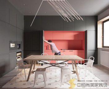 西安|五居室现代简约风装修效果图