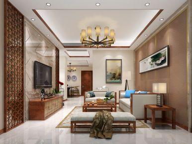 福州禹州天悦湾 中式风格三房装修设计效果图欣赏