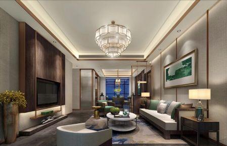 现代中式装修效果图 现代中式三房装修设计欣赏