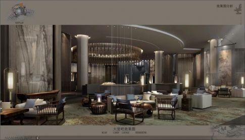 新中式风格酒店装修效果图 新中式风格酒店设计图
