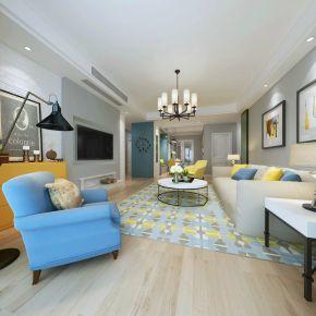 美式风格三房装修效果图 美式家庭装修设计