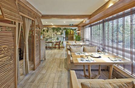 朴田泰式海鲜火锅餐厅设计 泰式火锅店装修设计效果图
