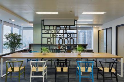 上海同进置业办公室设计 现代风格办公室装修效果图