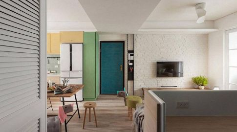 西安两居室混搭风格装修效果图