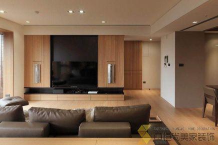 西安现代简约四居室装修效果图
