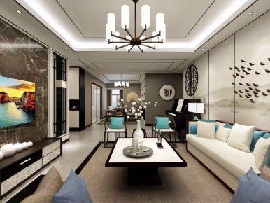 新中式风格三房装修设计  新中式家庭装修效果图