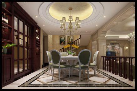 宁波金色港湾 美式风格别墅装修设计效果图