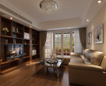 重庆金科装修案例  欧式风格三居室装修设计效果图