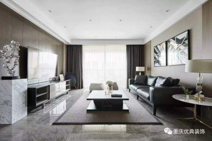 西城国际完工案例 现代风格三房装修设计