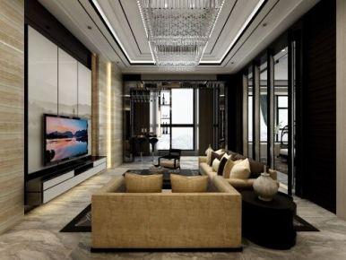 华贵岁月 中式风格三居室装修设计效果图欣赏