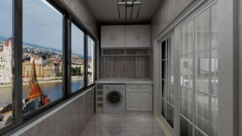 灰色现代风格家庭装修  现代风格三房装修效果图