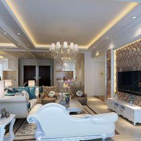 杭州欧式风格家装 欧式风格三房装修设计效果图