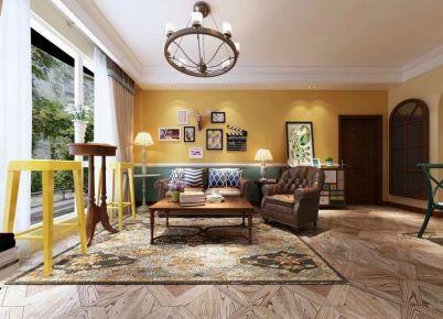 西安恒大绿洲美式四居室装修效果图
