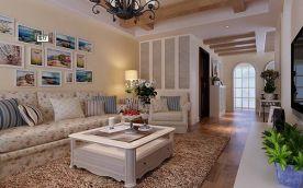 龙砚东山四居室园艺风格装修设计案例