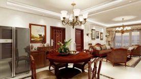 美式风格四居室家庭装修效果图 华夏铂宫