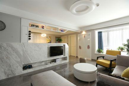 狮子城海棠园 现代风格两房装修设计效果图