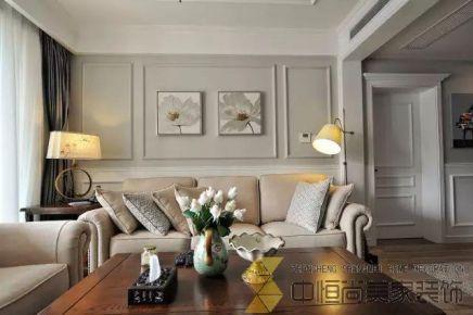 西安|中铁缤纷城美式三居装修效果图