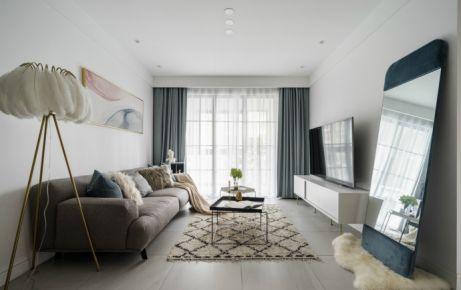 红星国际 简约风格两居室家庭装修效果图