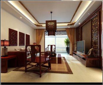 青岛温泉夏庄 中式风格两房装修设计