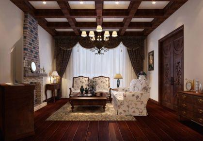 红山郡 中式风格三房装修设计效果图