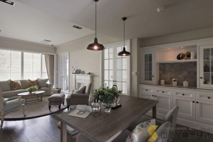 西安 美式风格三居室装修效果图