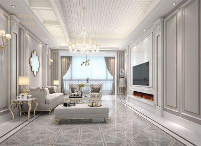 旭日湾谢总豪宅 欧式风格四房装修设计欣赏