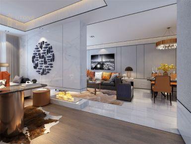 珠海珠光新城 现代风格三房装修设计