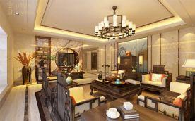 银海湾刘女士豪宅 中式风格四房装修效果图