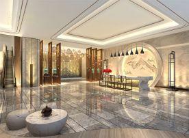 珠海龙轩酒楼装修设计 中式风格酒楼装修效果图