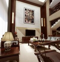中式别墅装修效果图 中式别墅设计图大全