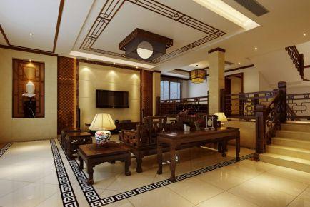 中式别墅装修设计 中式风格别墅装修效果图大全