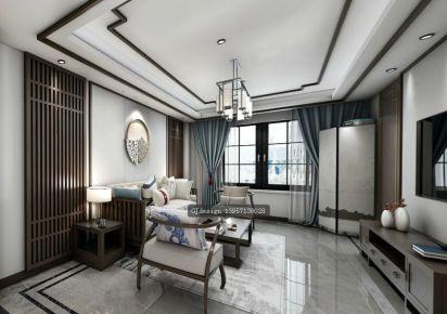 中式御景蓝湾 中式风格三房装修设计效果图