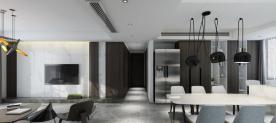 西安金山小区 美式风格三房装修设计效果图