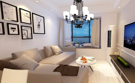现代简约三房装修效果图 三居室现代风格装修