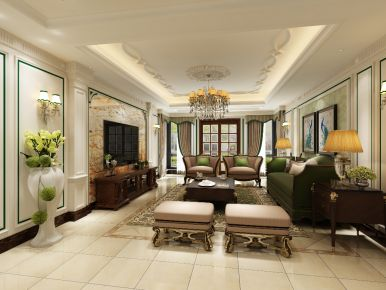美式风格三房装修设计 美式风格家装效果图欣赏