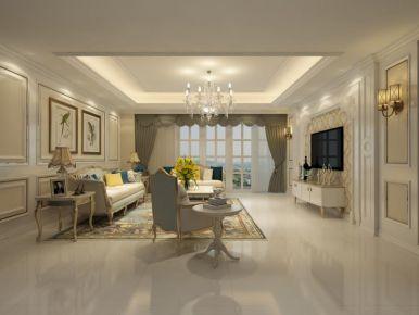 欧式简约三房装修设计 简欧风格家庭装修效果图