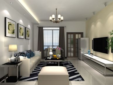 现代风格三房设计 现代风格家庭装修效果图